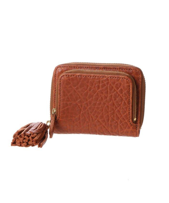 9d291af2cc65 PERCHE(ペルケ)/ペルケ perche 厚口シープタッセル付き二つ折り財布 (