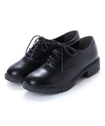 scramble/スクランブル scramble 定番レースアップシンプルマニッシュシューズ おじ靴 (ブラック/PU)/502207789