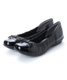 SHOEL/シュール SHOEL 本革リボン・ウォーキングパンプス (ブラック)/502209431