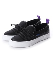 SLACK/スラック SLACK INTLOOP (BLACK/WHITE) スリッポン (BLACK/WHITE)/502209507