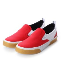 SLACK/スラック SLACK CALMER ES (RED/WHITE/GUM)キャンバス スリッポン (RED/WHITE/GUM)/502209531