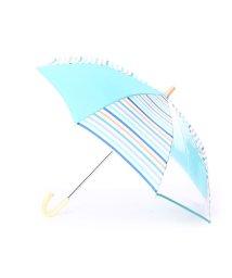 w.p.c/ダブリュピーシー w.p.c キッズ雨傘 マルチボーダーグリーン45/502237576