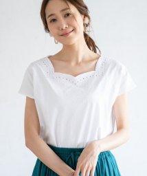 coen/カットワーク刺繍フレンチスリーブカットソー/502269476
