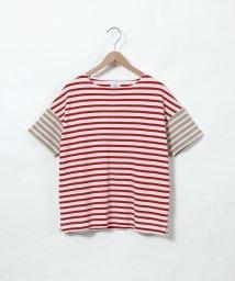 coen/鹿の子ボーダーTシャツ/502269477
