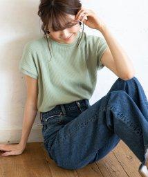 coen/【先行販売】ワッフルフレンチスリーブカットソー/502269478