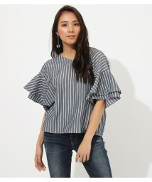 AZUL by moussy/★BACK RIBBON FRILL BLOUSE/502269895
