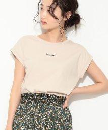 ViS/ロゴプリントTシャツ/502270205