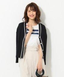 KUMIKYOKU/【洗える】コットンワッフルセーターマシーン カーディガン/502270335