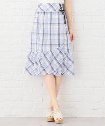 Feroux/【洗える】サマーマドラスチェック スカート/502270341