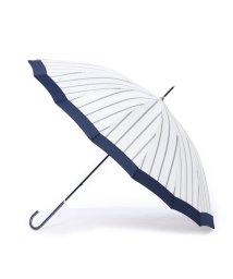 w.p.c/ダブリュピーシー w.p.c 雨傘 16本骨切り継ぎストライプ (オフホワイト)/502237880