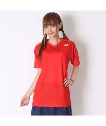 YONEX/ヨネックス YONEX ユニセックスTシャツ シャツ(スリムタイプ) 12124 レッド  (サンセットレッド)/502243298
