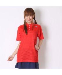 YONEX/ヨネックス YONEX テニス用ポロシャツ ポロシャツ(スリムタイプ) 12123 レッド  (サンセットレッド)/502243302