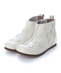 yuriko matsumoto/ユリコ マツモト yuriko matsumoto 春ブーツ サマーブーツ ブーツ コサージュ 本革 (IV)/502246395