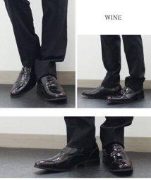 ZINC/SFW ジンク ZINC 内羽根ストレートチップシューズ (ワイン)/502247099