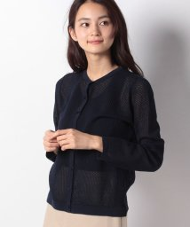 Leilian/透かし柄編みカ-ディガン/502004087