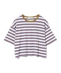Ray BEAMS/Ray BEAMS / マルチ ボーダー ワイド Tシャツ/502025967