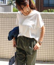 and Me.../ポケット付きVネックドルマンTシャツ/502270809