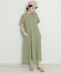 framesRayCassin/空紡糸半袖Aラインワンピース/502270854