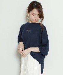 framesRayCassin/リネン混刺繍入りTシャツ/502270856