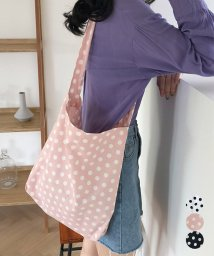miniministore/ショルダーバッグ レディース トートバッグ 鞄 水玉 ワンショルダー 肩掛け 綿麻 エコバッグ 即納/502270996