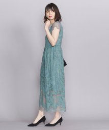 BEAUTY&YOUTH UNITED ARROWS/BY DRESS レース×チュール フレンチスリーブロングドレス/502271112