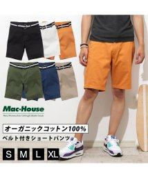 MAC HOUSE(men)/Navy ベルト付きショーツ 391127MH/502271177