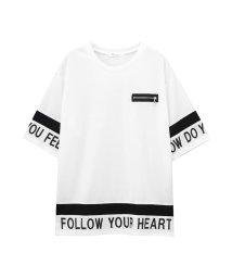 MAC HOUSE(women)/Free Nature 胸フェイクファスナービッグTシャツ 89851NM/502271199
