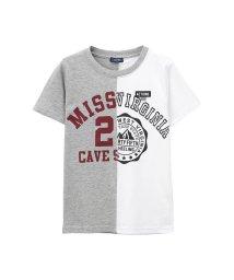 MAC HOUSE(kid's)/T-GRAPHICS ボーイズ 切替プリントTシャツ MH/TG741B/502271223