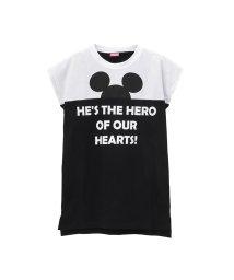 MAC HOUSE(kid's)/LOVE-T ガールズ ミッキー切替ビッグTシャツ 326102022/502271240