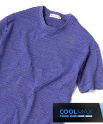 SHIPS JET BLUE/SHIPS JET BLUE: リンクス ジャカード ボーダー Tシャツ/502271364