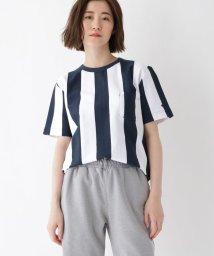 BASECONTROL/YZ 20/2 天竺 ストライプ 半袖 Tシャツ/502271400
