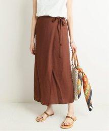 SLOBE IENA/ドビー織りラップスカート/502271606