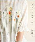 Sawa a la mode/マオカラ―でポップ刺繍柄シャツ/502272189