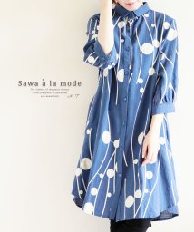 Sawa a la mode/Aラインとお洒落な色柄が広がるシャツトップス/502272220