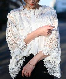 Sawa a la mode/花刺繍レースが可愛らしいふんわりブラウス/502272280