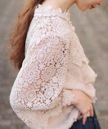 Sawa a la mode/花刺繍レースが可愛らしいふんわりブラウス/502272281