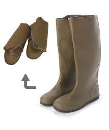 Anywalk/エニーウォーク Anywalk Folding Rain Boot レインブーツパッカブル携帯用巾着袋付・aw_19044 (KHAKI)/502273885