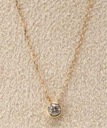 DECOUVERTE/18KYG 0.1ct ダイヤモンド Fネックレス/502274053