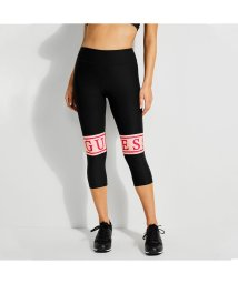 GUESS/ゲス GUESS CROPPED LOGO LEGGINGS (JET BLACK W/ FROST GREY)/502274347