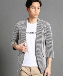 NICOLE CLUB FOR MEN/ノーカラー7分袖ジャケット/501591791
