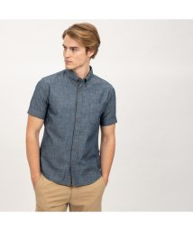 AIGLE MEN/DFTダンガリーチェックシャツ半袖/501930346