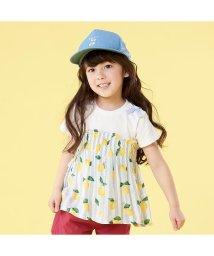 apres les cours/レモン柄レイヤード風Tシャツ/502003278