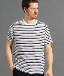 MONSIEUR NICOLE/グログランマルチボーダーTシャツ/502034210