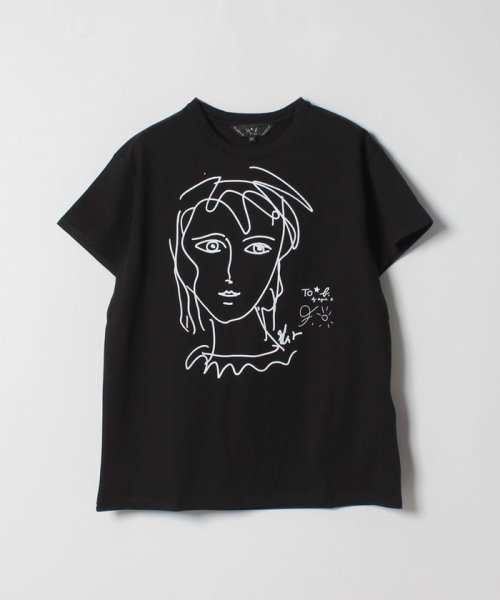 To b. by agnes b.(トゥービー バイ アニエスベー)/WG29 TS アーティストTシャツ/4566WG29E19
