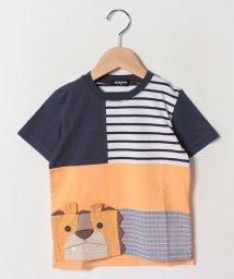 kladskap/ライオンパッチワーク半袖Tシャツ/502252544