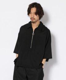 GARDEN/bukht/ブフト/Half Zip Pullover Shirts - Glen Check/ハーフジッププルオーバーシャツ/502274473