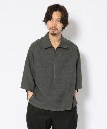 GARDEN/bukht/ブフト/Half Zip Pullover Shirts - Glen Check/ハーフジッププルオーバーシャツ グレンチェック/502274474