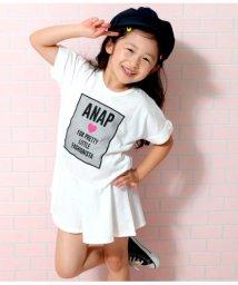 ANAP KIDS/裾切り替えチュールワッペンデザインワンピース/502274516