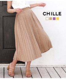 CHILLE/プリーツスカート/502031249