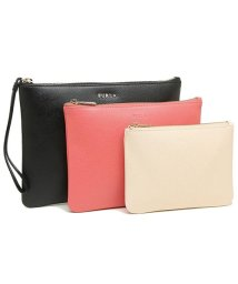 FURLA/フルラ ポーチ FURLA 888156 EF23 ARE O60 ROYAL ENVELOPE SET レディース 無地 ONYX 黒/502045233